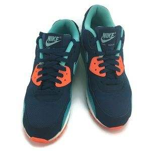 Nike air Max 90 Leather Snake size 9 Blue green